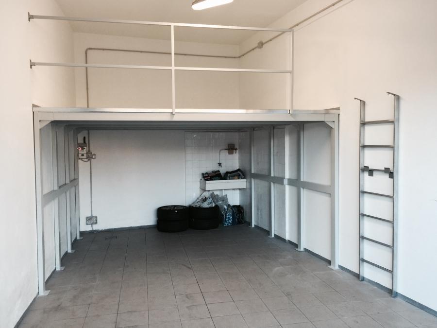Soppalco in ferro per garage